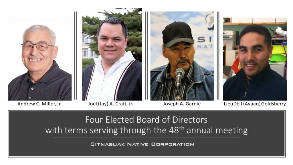 Four elected board of directors with terms serving from the 45th to the 48th annual meeting